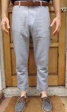 """NEW ZARA MEN'S en Coton Longueur Cheville Été Pantalon Taille 34"""" Gris-RRP £ 28"""