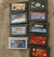 Nintendo Gameboy Advance Games GBA lot of 9 Narnia Dogz Cars Frogger Pacman KND