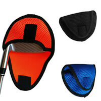 Portable Golf Mallet Putter Headcover Center Shaft Putter Protective Cover