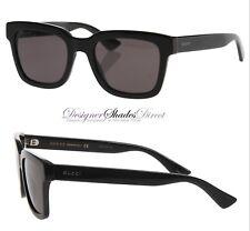 Gucci Sunglasses GG0001S Black Rectangle Wayfare Mens Womens 001 Silver  Logo New 060303f56767
