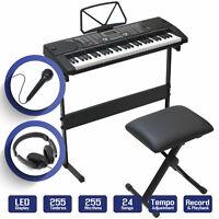 Keyboard Piano Music Digital Electronic 61 Key Electric Microphone Headphone US