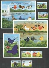 [MAL] MALDIVES 1999 BUTTERFLIES. SET OF 6 STAMPS + 2 SHEETS OF 6 + S/S