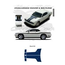 Dodge Challenger 2010 to 2011 Hood Stripes Graphic Kit - Blue