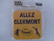 Lot de 6 sous-bocks ALLEZ CLERMONT Rugby biere boisson bar bistrot déco humour