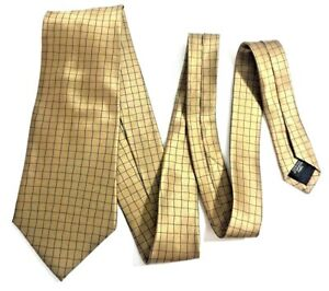 DKNY Men's Gold Silk Neck Tie New with Tags