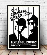 Blues Brothers Live für eine Nacht: Vintage Poster Reproduktion.