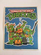 Vintage 1989 Teenage Mutant Ninja Turtles School Folder Blue Binder
