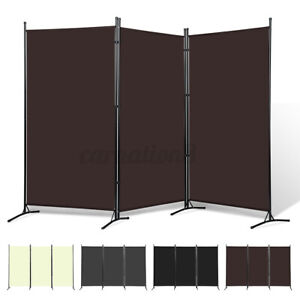 8.5x6ft 3-Panel Vintage Folding Room Divider Partition Separator Privacy Screen