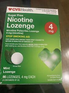 CVS HEALTH NICOTINE LOZENGE MINT 96 LOZENGE 4 MG Exp 2/21