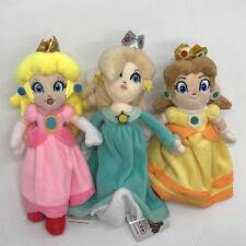 "3X New Super Mario Plush Princess Peach Daisy Rosalina Soft Toy Teddy Doll 9"""