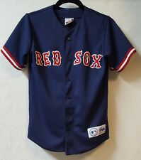 Majestic MLB Boston Red Sox  Jersey Size Large Youth  Button Front Baseball