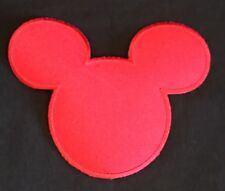 Mickey Mouse Ears Silhouette Iron On Patch - DiY Embroidered Edges - New