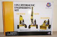 Engineering Hydraulic Construction Model Kit - 3 in 1 Bulldozer Crane Excavator