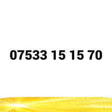 07533 15 15 70 EASY MOBILE NUMBER GOLD PLATINUM VIP UK PAY AS YOU GO SIM CARD