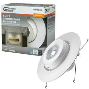 Recessed Lighting Trim 6 in. 670-Lumens Adjustable Dimmable 3000K-Soft White
