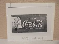 Vintage COCA-COLA PHOTO from COLA CALL TIRED RELIEVES FATIGUE