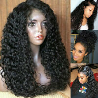 Deluxe Silk Top Full Lace Front Wig Thick Long Curly Remy Indian Human Hair Wigs