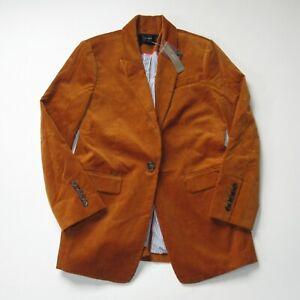 NWT J.Crew Long Parke Blazer in English Saddle Corduroy Single Button Jacket 6P