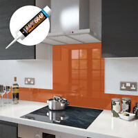 Glass Splashbacks Orange and Glass Upstands - Made By Premier Range