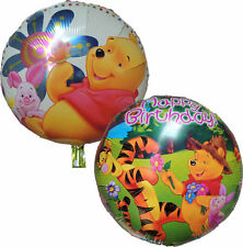 2PCES WINNIE THE POOH PIGLET TIGER HAPPY BIRTHDAY PARTY BALLOON DECORATION GIFT