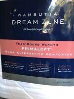 Wamsutta Dream Zone  White Goose Down Prima Loft Comforter 600 TC Twin