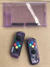 Nintendo Switch Custom Joy Con Controller Joy-Cons Atomic Purple + BACKPLATE