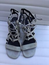 Sol Sana Grey Leather Strappy Women's Shoes Size 38
