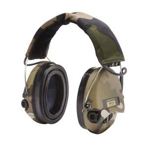Sordin Supreme Pro-X LED - Camo Cups, Camo Headband with Gel Ear seals