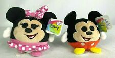 Disney Just Play Mickey and Minnie Mouse Squeeze Me Plush Set Of 2 New With Tags