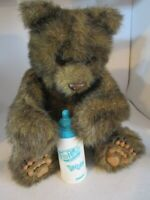"FurReal Friends Luv Cubs 12"" Brown Bear w/Bottle WORKS! Tiger Electronics Hasbro"