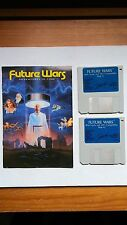 Future Wars Adventures in Time 1989 Vintage DOS 2.5-4.0 Video Game 2 Disks+Book