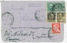 ITALIA REGNO / RSI - STORIA POSTALE  - BUSTA ESPRESSO con PROPAGANDA GUERRA 1943