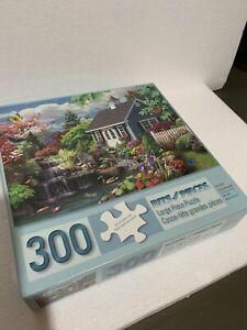 300 Piece Puzzle DREAM LANDSCAPE COTTAGELarge Piece Great Shape Bits and Pieces