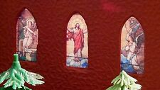 Stained Glass Church Window Insert Assortment for Plasticville Churches