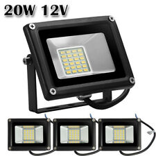 4X 20W 12V LED Flood Light Warm White Outdoor Garden Yard Spot Lamp Waterproof