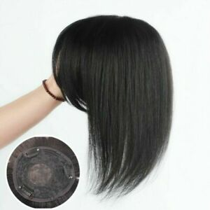 9 x10 cm Clip Mono Lace Human Hair Topper Toupee Hairpiece Top Wig For Women Men