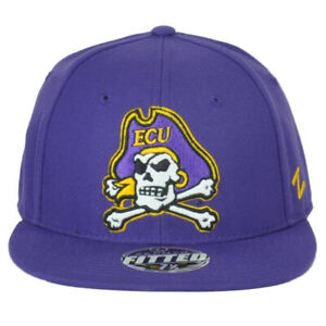NCAA Zephyr East Carolina Pirates ECU Purple Flat Bill Fitted Size Hat Cap