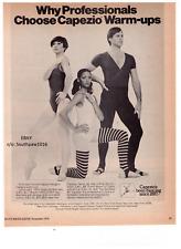 "1976 Capezio ""Warm-Ups"" Dancewear Vintage Print Advertisement"