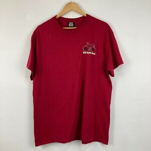 Old Guys Rule Mens T-Shirt Size L Large Red Short Sleeve Crew Neck