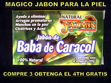 MAGICO JABON DE BABA DE CARACOL ANTI ARRUGAS MANCHAS ESTRIAS ACNE CICATRICES