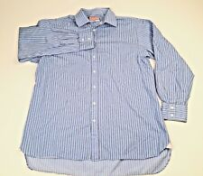 Thomas Pink Mens Dres Shirt Blue Whiute StipedSize17 1/2 35 1/2 44/90