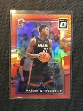 2017-18 Donruss Optic Hassan Whiteside Red 74/99 Miami Heat #80
