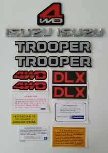 Isuzu Trooper Side Emblems Spanish decals 1986 1987 1988 1989 1990 1991