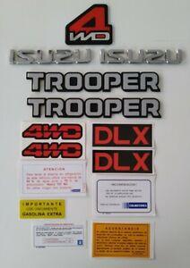 Isuzu Trooper Side Emblems Spanish decals 1986 1987 1988 1989 1990 1991
