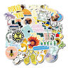 50PCS Summer Cool Stickers Pack Pink Girl Anime Stiker For Children On Laptop