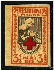 Estonia ,Estland 1921 Roter Kreuz, Red Cross Mi29 B + IMPERFORATED MNH