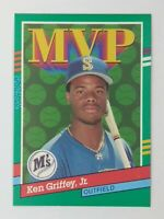 1990 90 Leaf MVP Error Ken Griffey Jr #392, Mariners, HOF, No Period After Inc