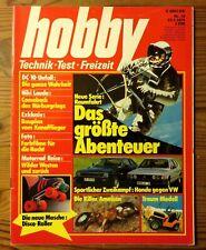 Hobby 16/1979 Roller-Skates, Test: VW Scirocco GT+Honda Prelude, Der Nürburgring
