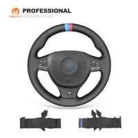 DIY Leather Steering Wheel Cover Wrap for BMW F10 F11 F07 M5 F10 F12 F13 F01 F02