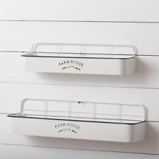 2 new Farmhouse Wall Shelf racks in White Metal
